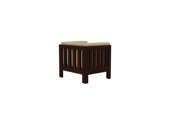 Fitbit Wooden Sofa 1 seater <small>( Walnut Finish )</small>