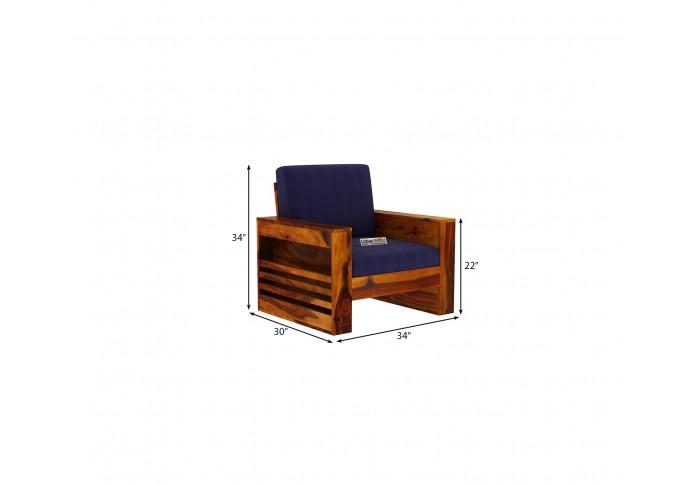 Modeway Wooden Sofa 1 Seater <small>( Honey Finish )</small>