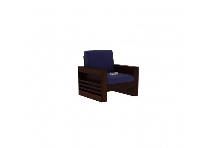 Modeway Wooden Sofa 1 Seater ( Walnut Finish )