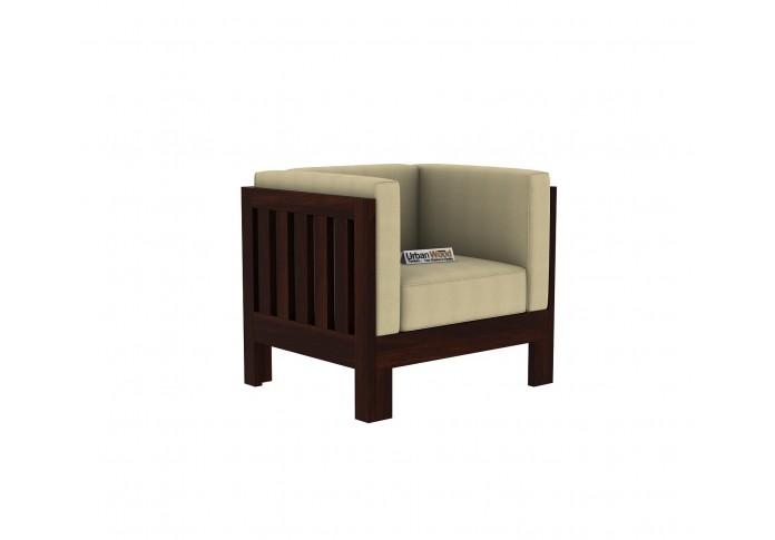 Fitbit Wooden Sofa Set 2+1+1 seater <small>(Walnut Finish)</small>