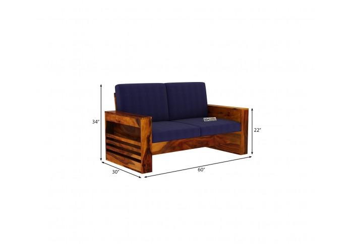 Modway Wooden Sofa Set 2+1+1 Seater (Honey Finish)