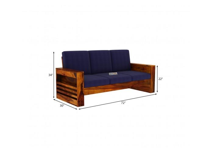 Modway Wooden Sofa Set 2+1+1 Seater <small>(Honey Finish)</small>