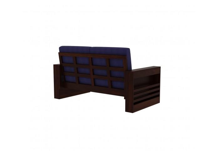 Modway Wooden Sofa Set 2+1+1 Seater <small>(Walnut Finish)</small>