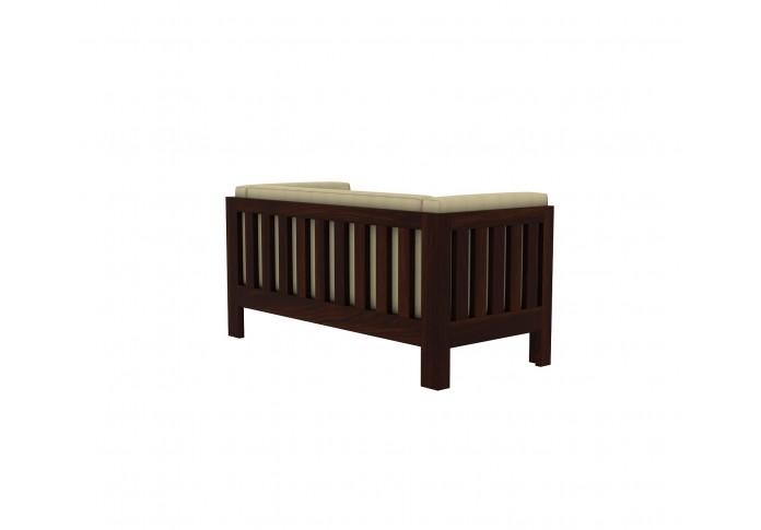 Fitbit Wooden Sofa 2 seater <small>( Walnut Finish )</small>