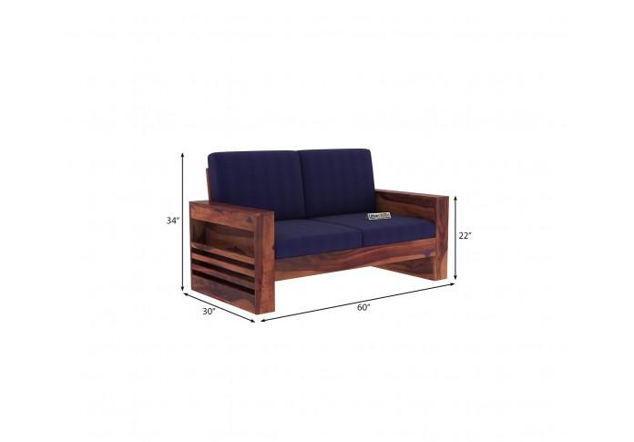 Modway Wooden Sofa 2 Seater ( Teak Finish )