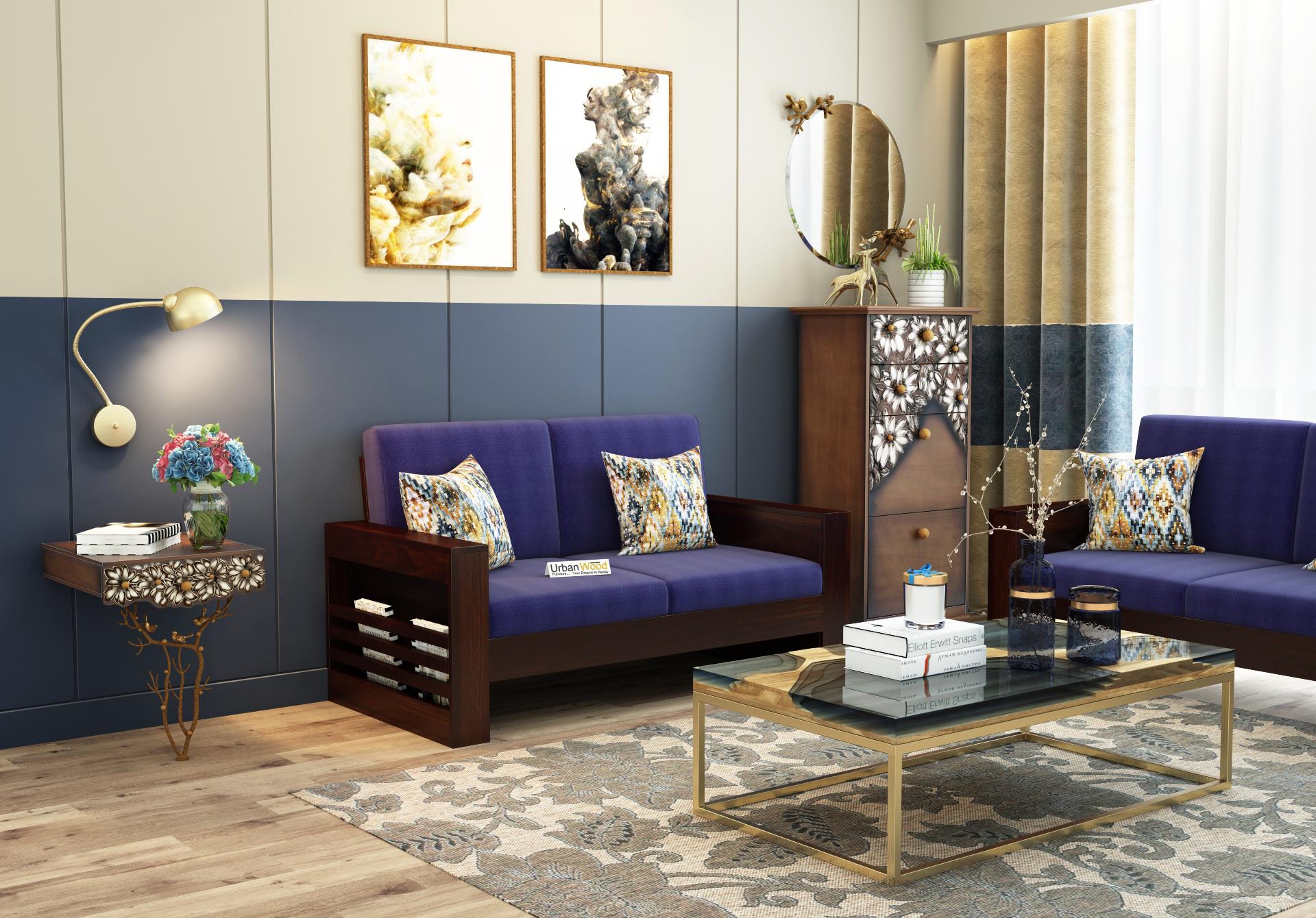 Modway Wooden Sofa 2 Seater <small>( Walnut Finish )</small>