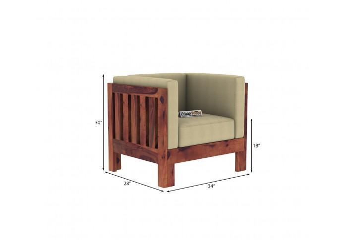 Fitbit Wooden Sofa Set 3+1+1 Seater (teak Finish)