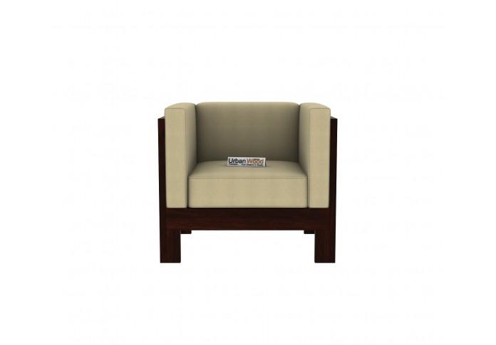 Fitbit Wooden Sofa Set 3+1+1 Seater (Walnut Finish)