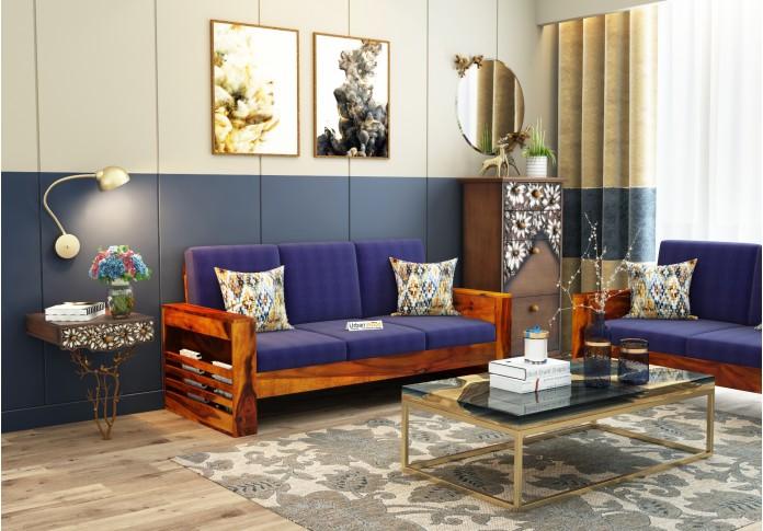 Modway Wooden Sofa Set 3+1+1 (Honey Finish)