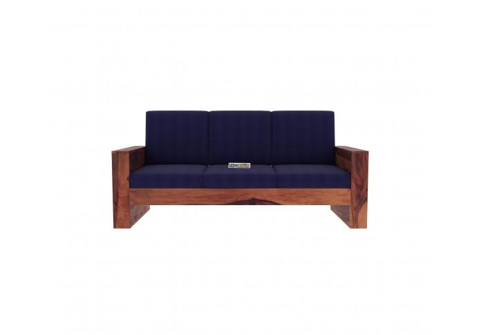 Modway Wooden Sofa set 3+2+1+1 Seater (Teak Finish)
