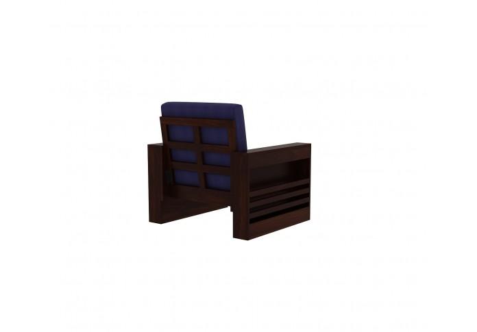 Modway Wooden Sofa set 3+2+1+1 Seater (Walnut Finish)