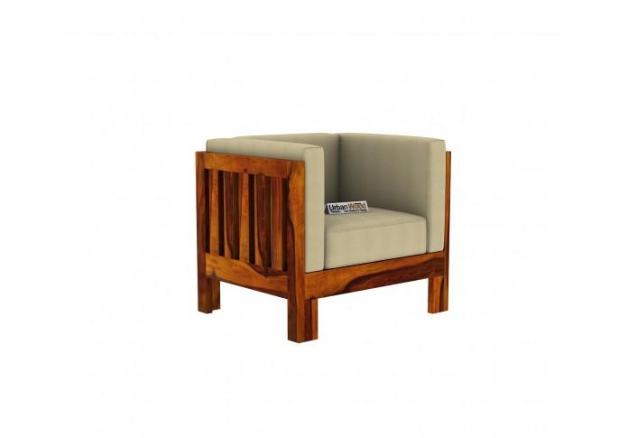 Fitbit Wooden Sofa Set 3+2+1 Seater (Honey Finish)