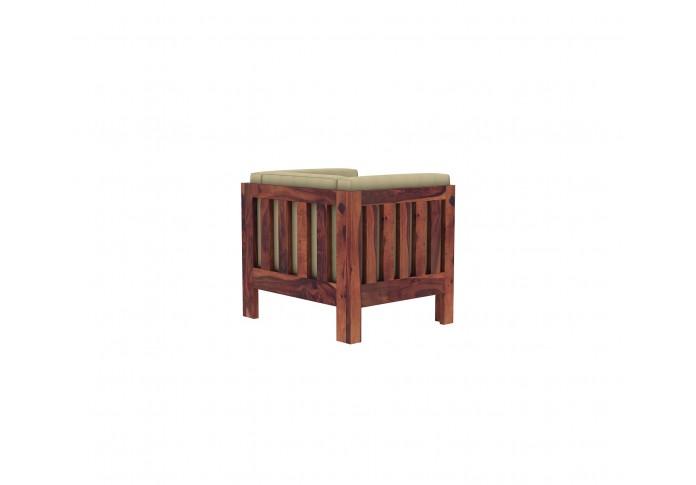 Fitbit Wooden Sofa Set 3+2+1 Seater (teak Finish)