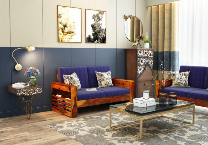 Modway Wooden Sofa Set 3+2+1 Seater (Honey Finish)