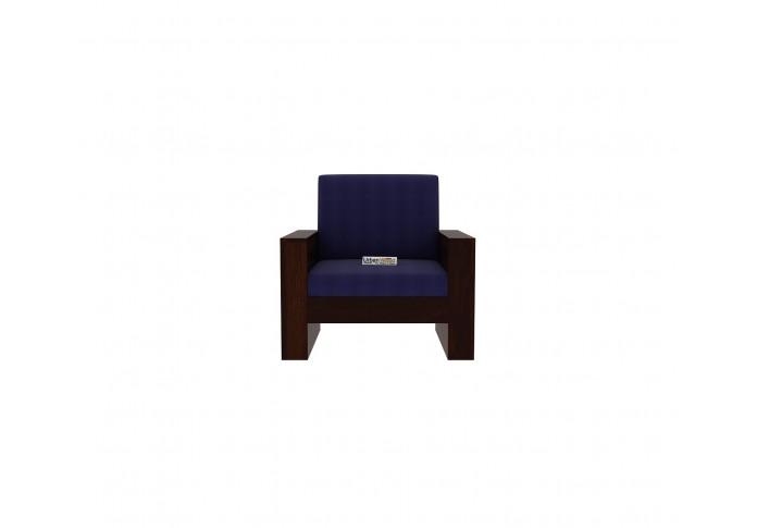 Modway Wooden Sofa Set 3+1+1(Walnut Finish)
