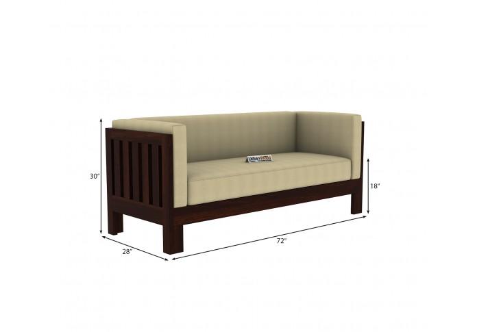 Fitbit Wooden Sofa 3 seater <small>(Walnut Finish)</small>