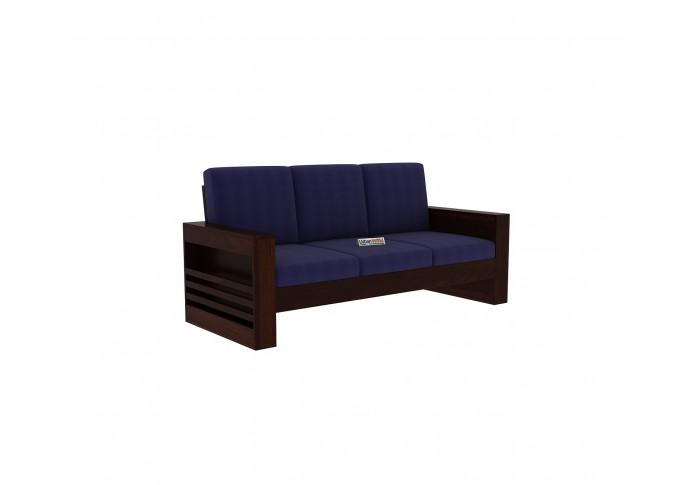 Modway Wooden Sofa 3 Seater (Walnut Finish)
