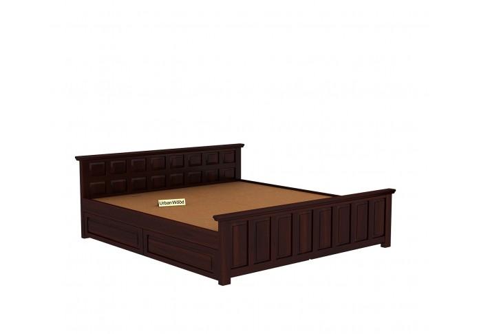 Thoms Bed With Storage ( king Size, Walnut Finish )