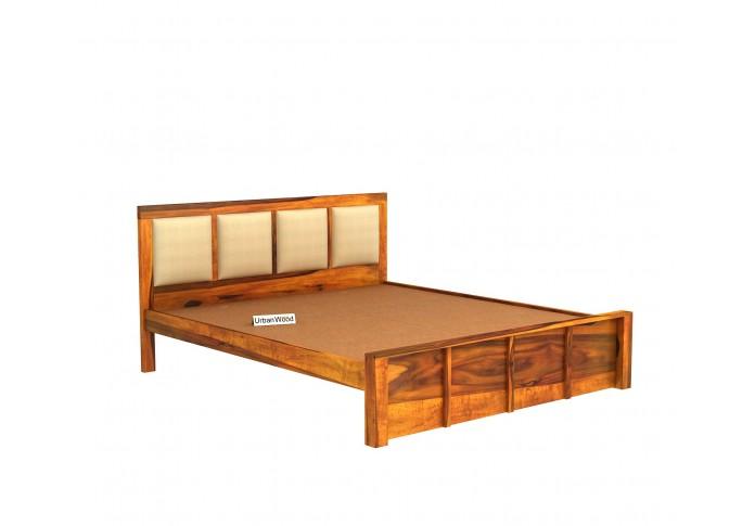 Harris Bed Without Storage ( King Size, Honey Finish )