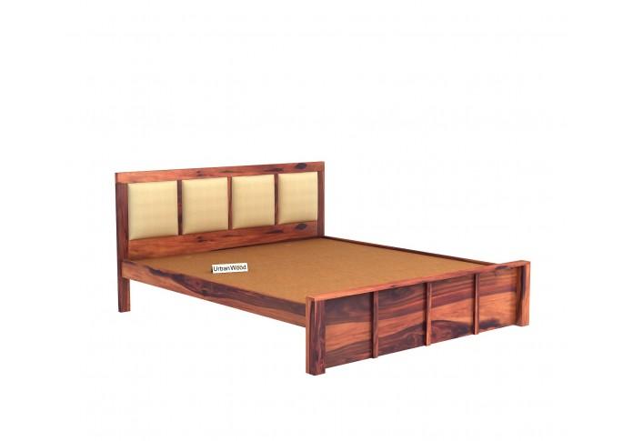 Harris Bed Without Storage ( King Size, Teak Finish )