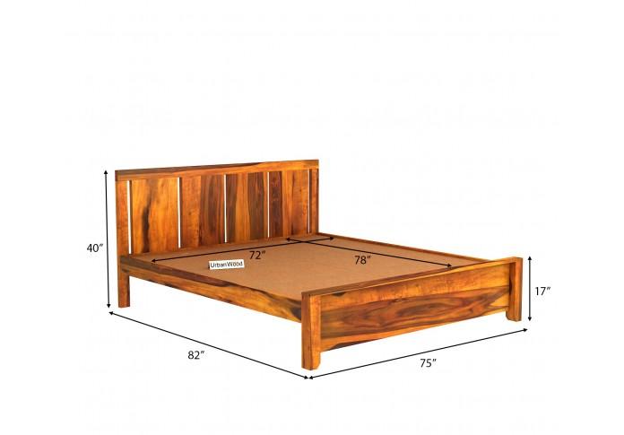 Topaz Bed Without Storage (King Size, Honey Finish)