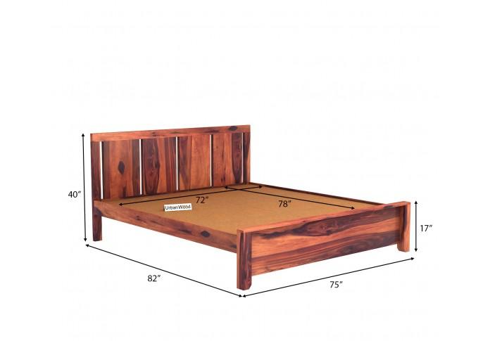 Topaz Bed Without Storage ( King Size, Teak Finish )