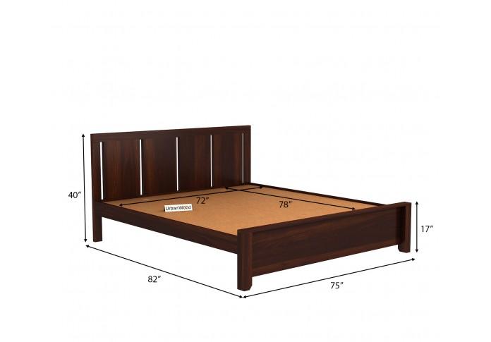 Topaz Bed Without Storage ( King Size, Walnut Finish )