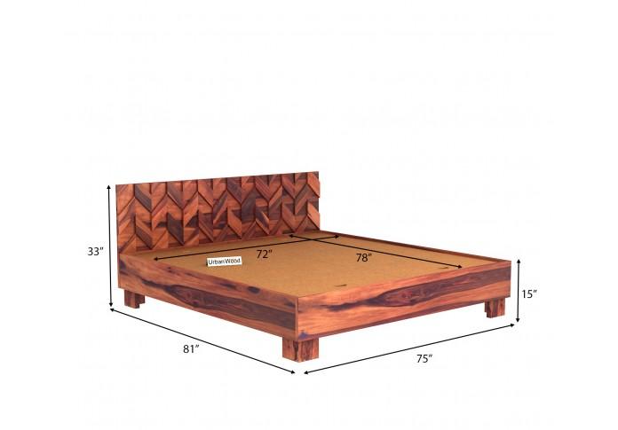Trace Bed Without Storage ( King Size, Teak Finish )