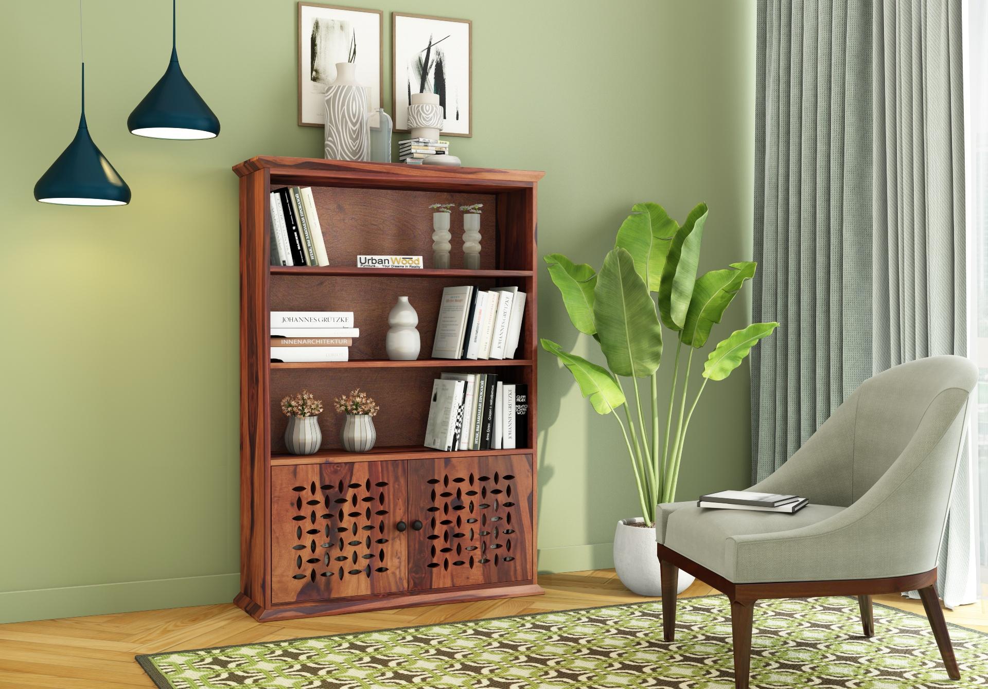 Beverly Book Shelves <small>( Teak Finish)</small>