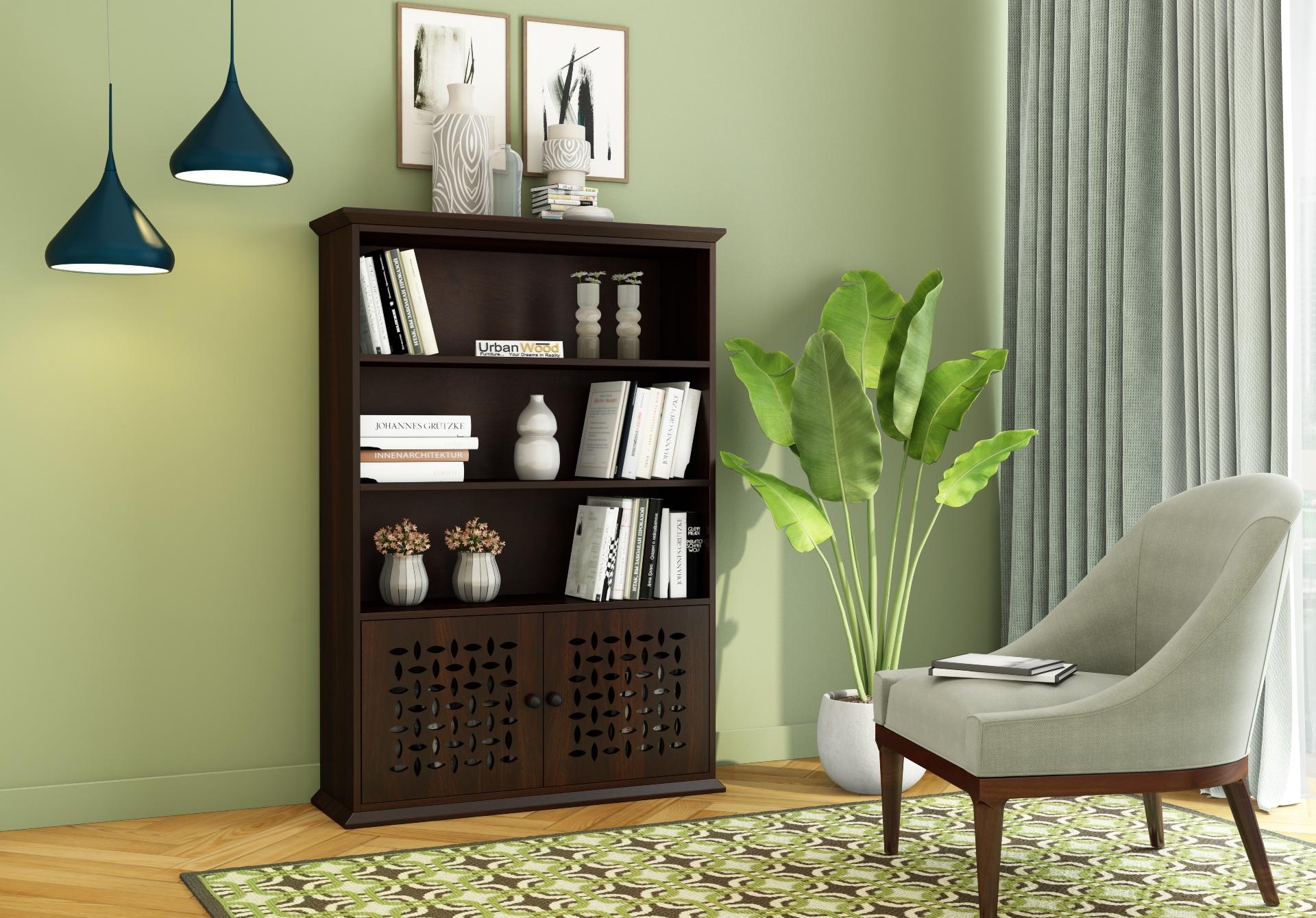 Beverly Book Shelves <small>( Walnut Finish)</small>