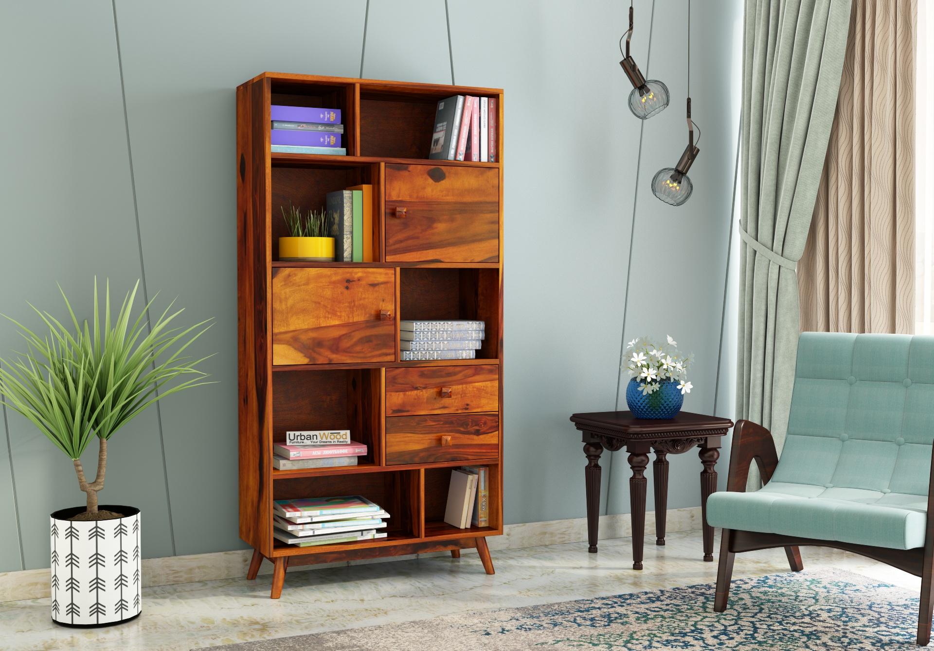 Busk Bookshelf <small>( Honey Finish )</small>