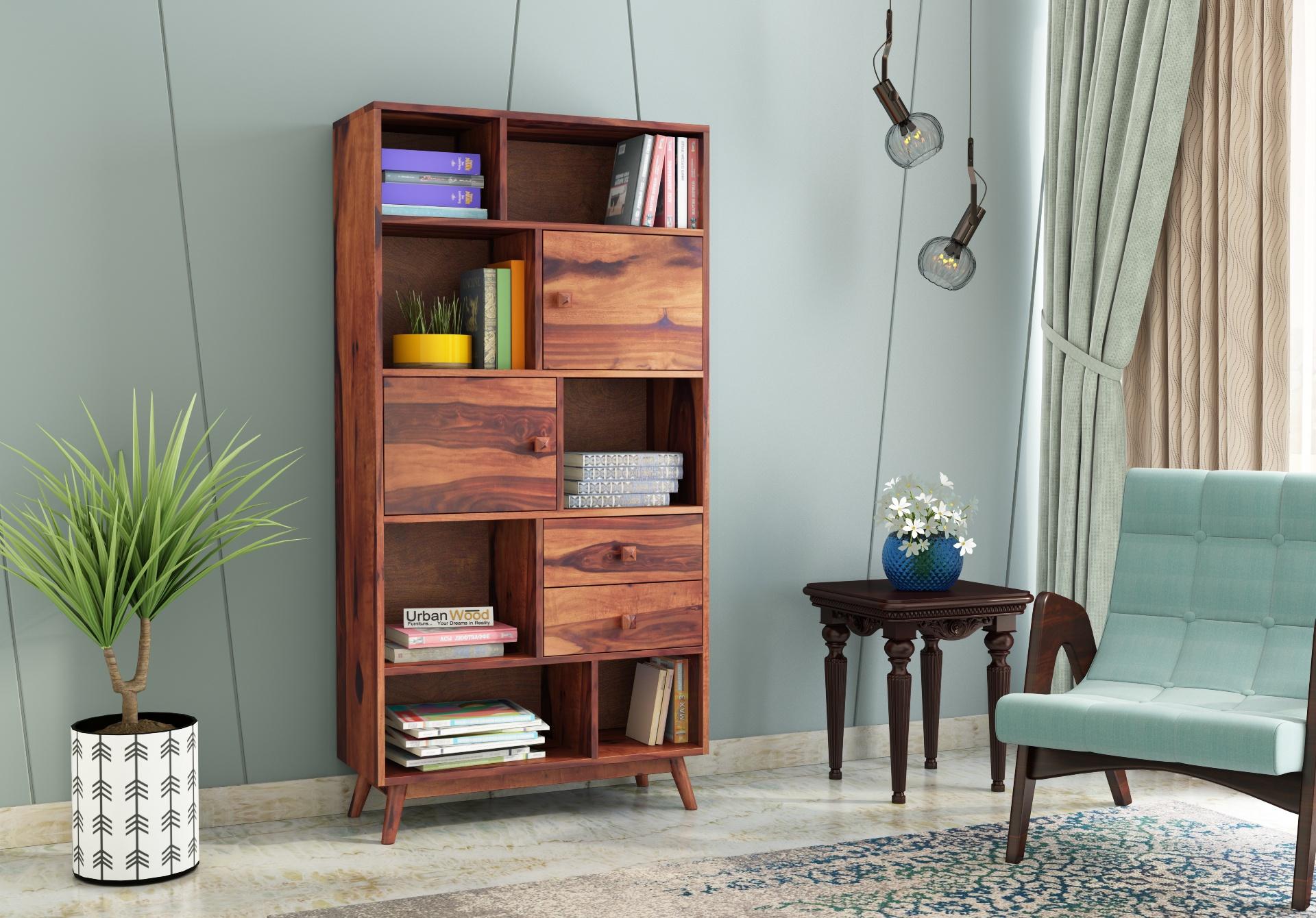 Busk Bookshelf <small>( Teak Finish )</small>