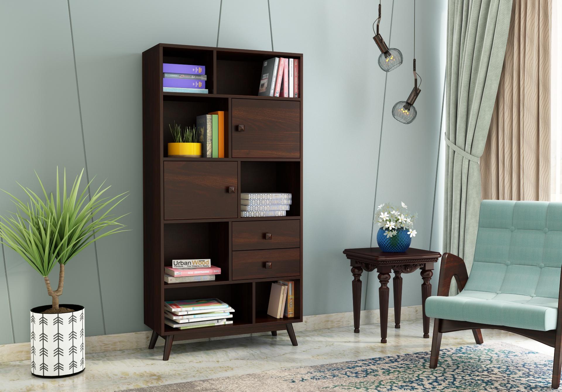Busk Bookshelf <small>( Walnut Finish )</small>