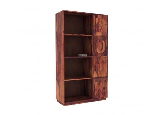 Melvin Wooden Bookcase (Teak Finish)
