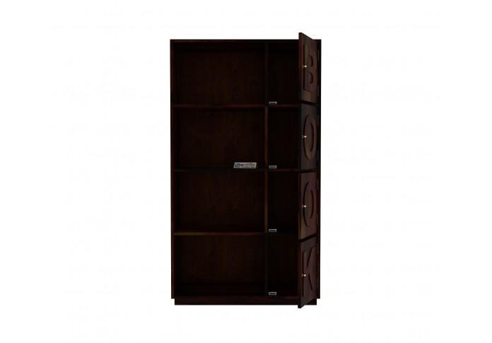 Melvin Wooden Bookcase (Walnut Finish)