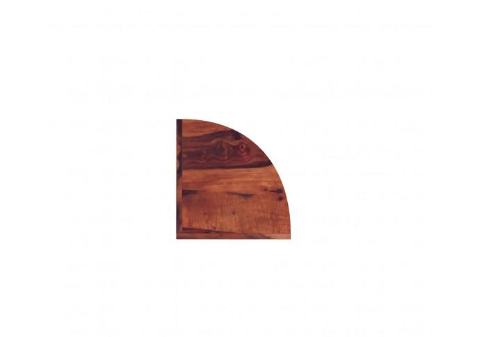 Rop Wooden Corner Bookshelf (Teak Finish)
