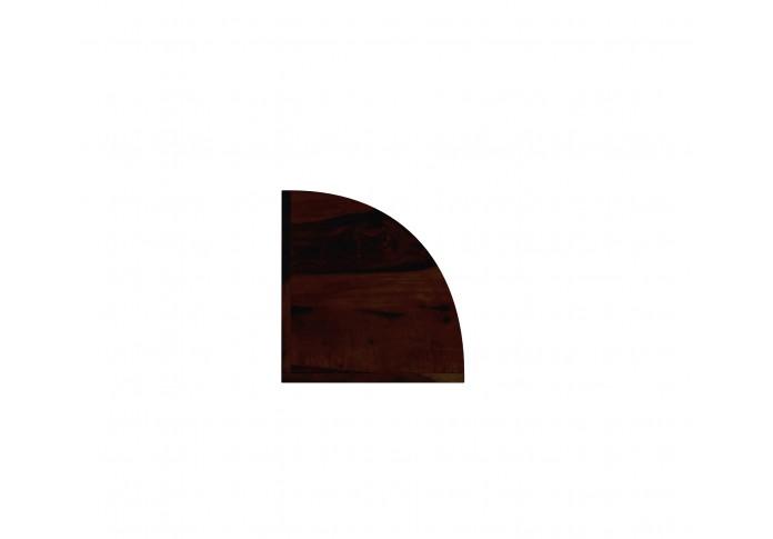 Rop Wooden Corner Bookshelf (Walnut Finish)