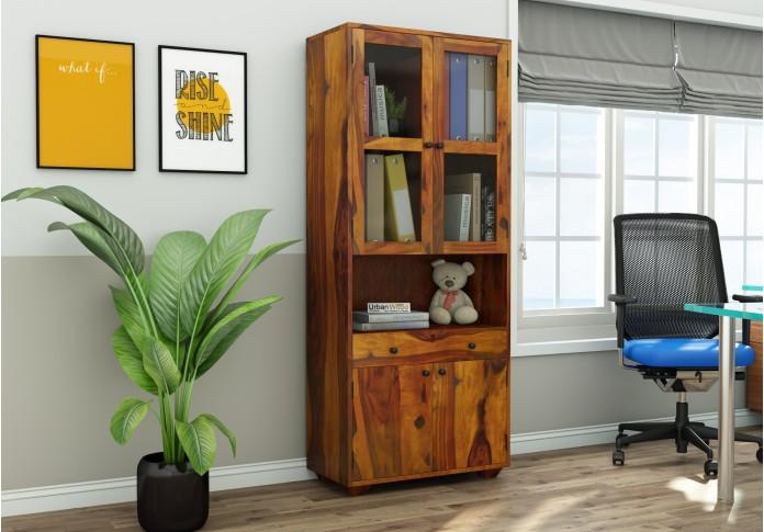 Tubular Wooden File Cabinet (Honey Finish)