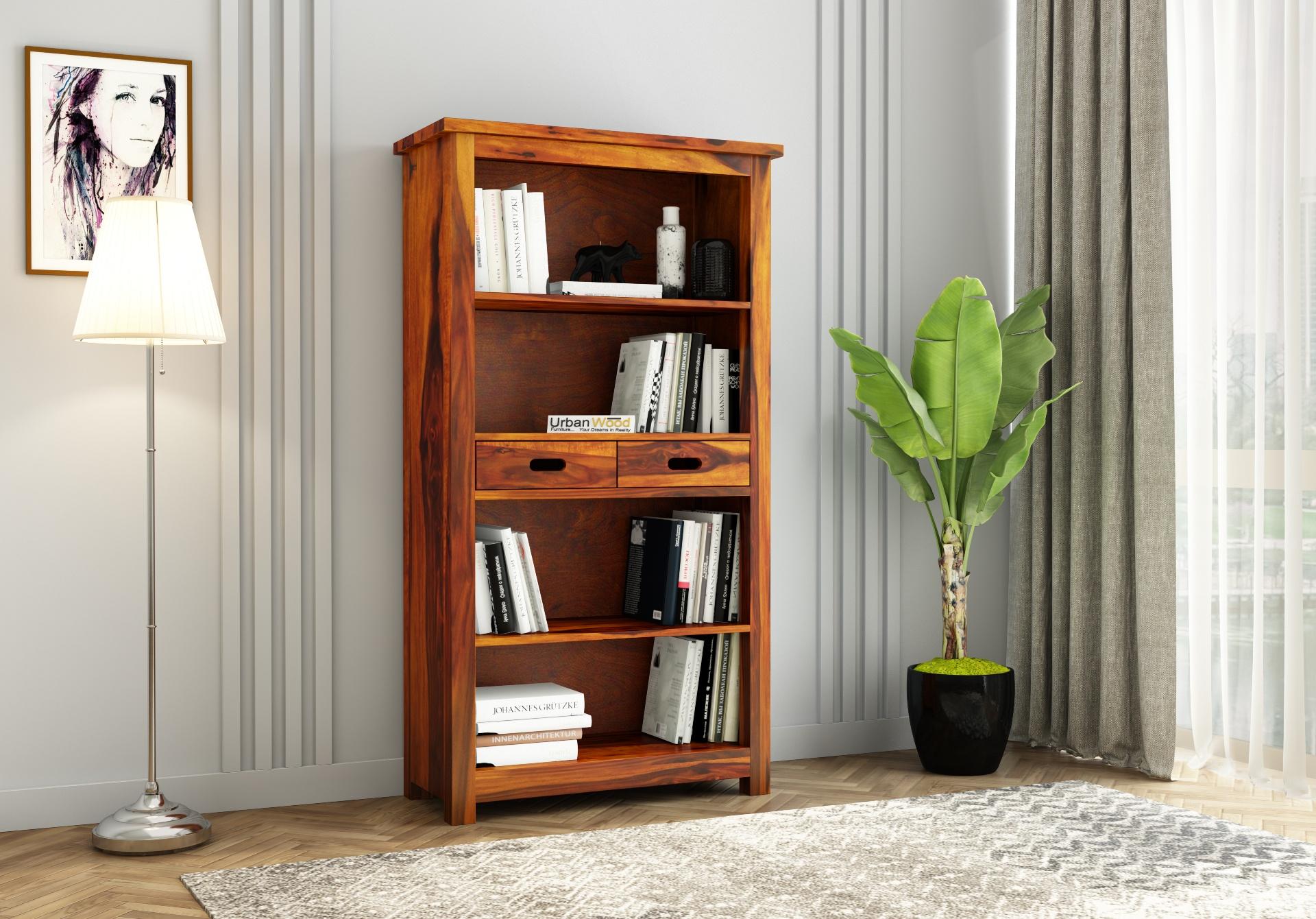 Upscale Book Shelves <small>(Honey Finish )</small>
