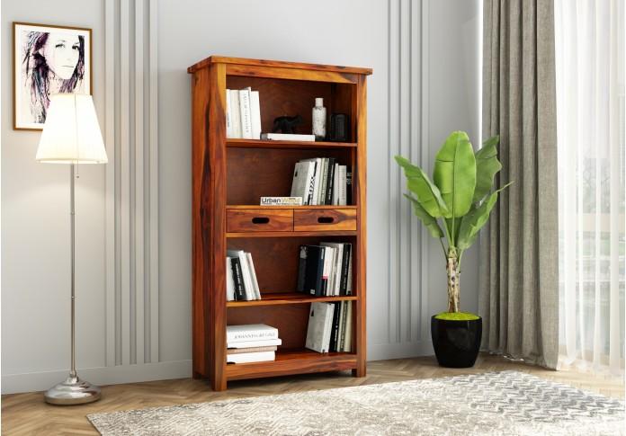 Upscale Book Shelves (Honey Finish )