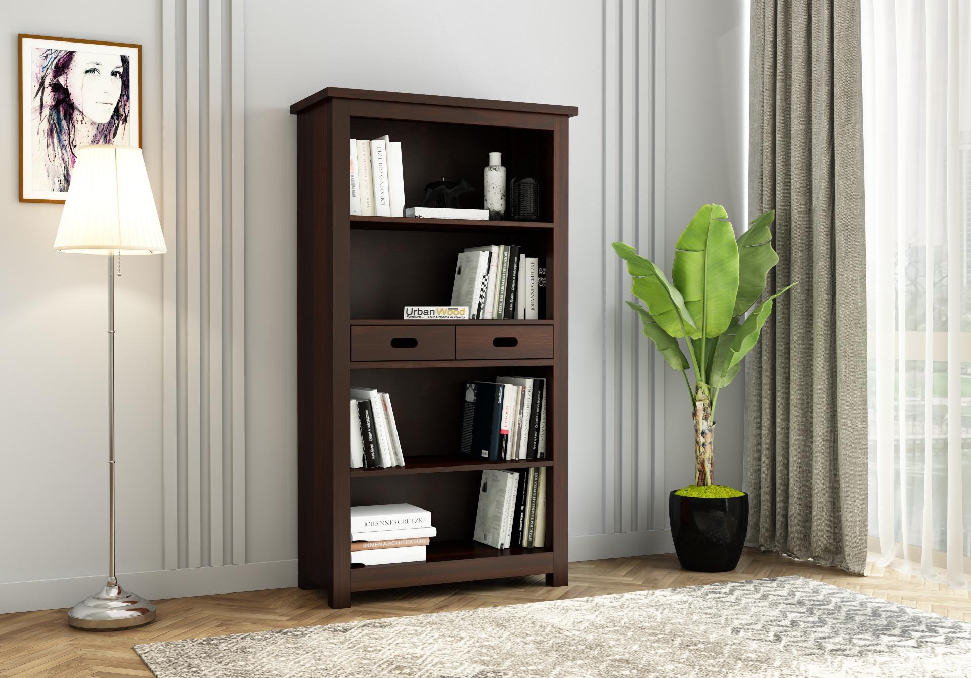 Upscale Book Shelves <small>( Walnut Finish )</small>
