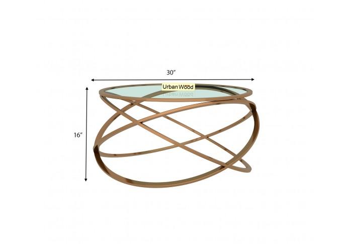 Barista Centre Coffee Table ( Glass, Metal )