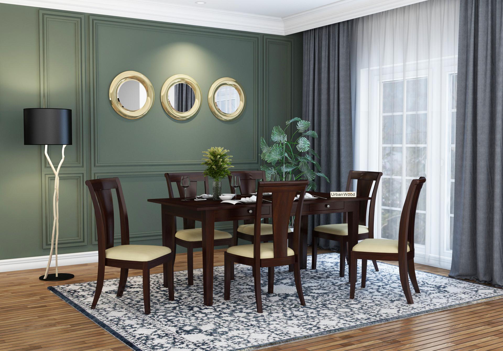Mystic Dining Table Sets <small>( Walnut Finish )</small>
