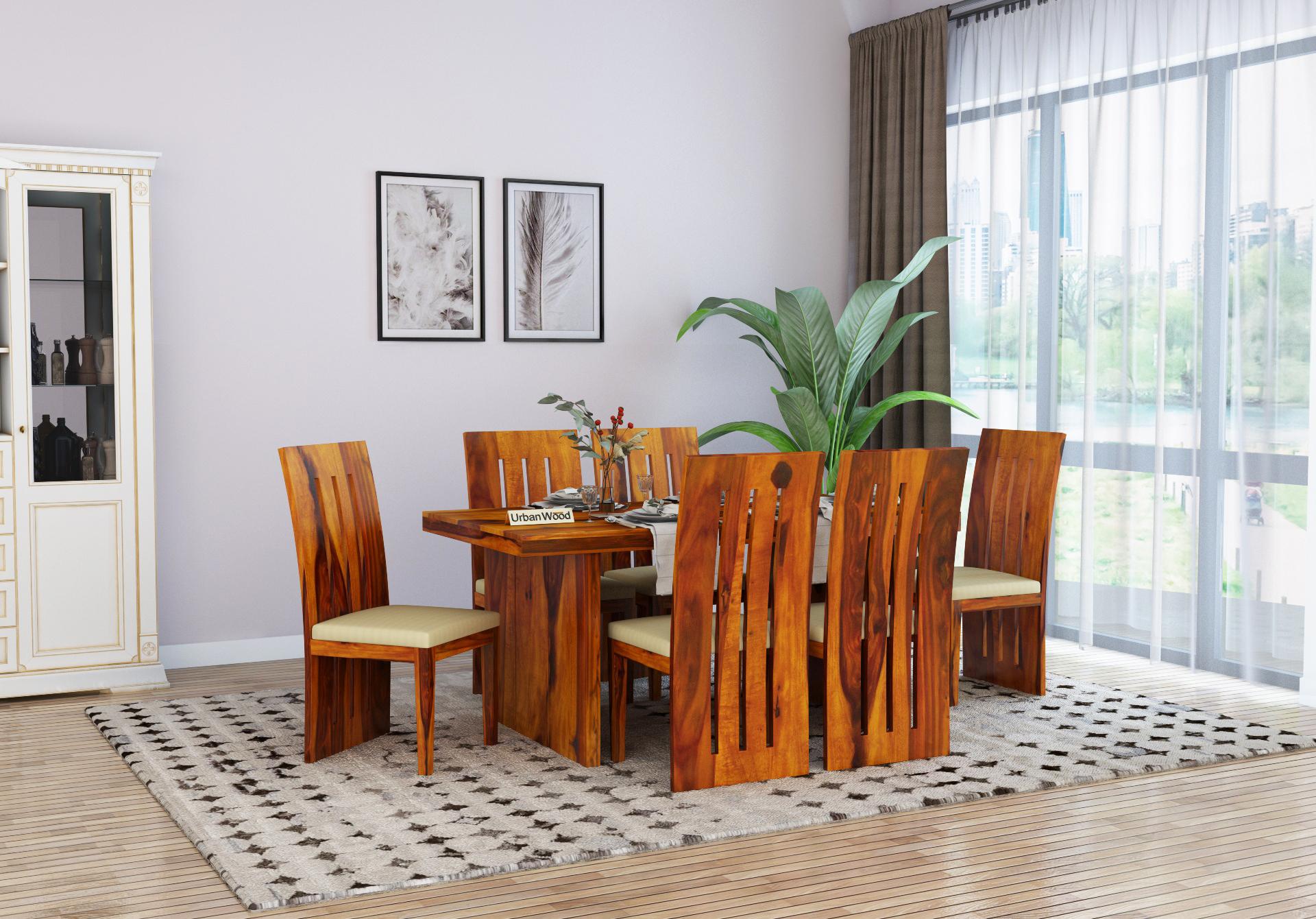 Tablry Dining Table Sets <small>( Honey Finish )</small>