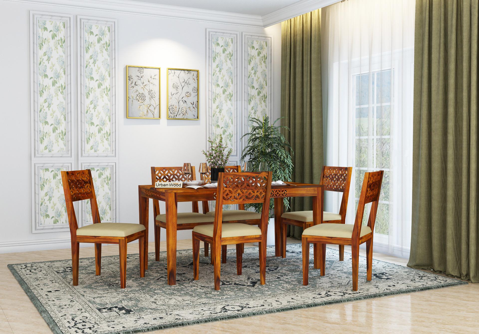 Woodora Dining Table Sets <small>( Honey Finish )</small>