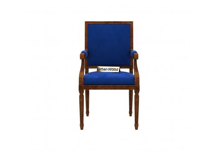 Armado Arm Chair <small>( Velvet , Sapphire Blue )</small>