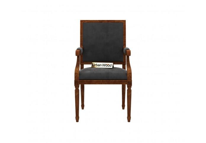 Armado Arm Chair ( Velvet, Stone Grey )