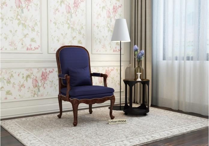 Avenue  Arm Chair ( Cotton, Navy Blue )