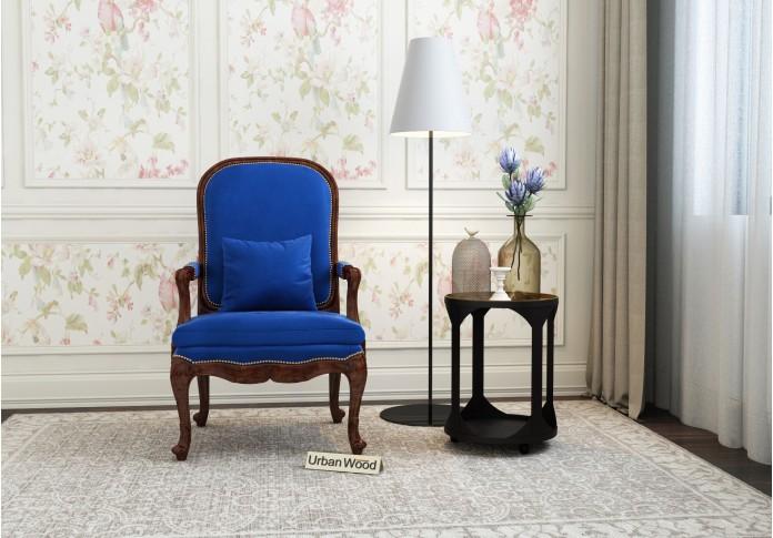 Avenue  Arm Chair <small>( Velvet , Sapphire Blue )</small>