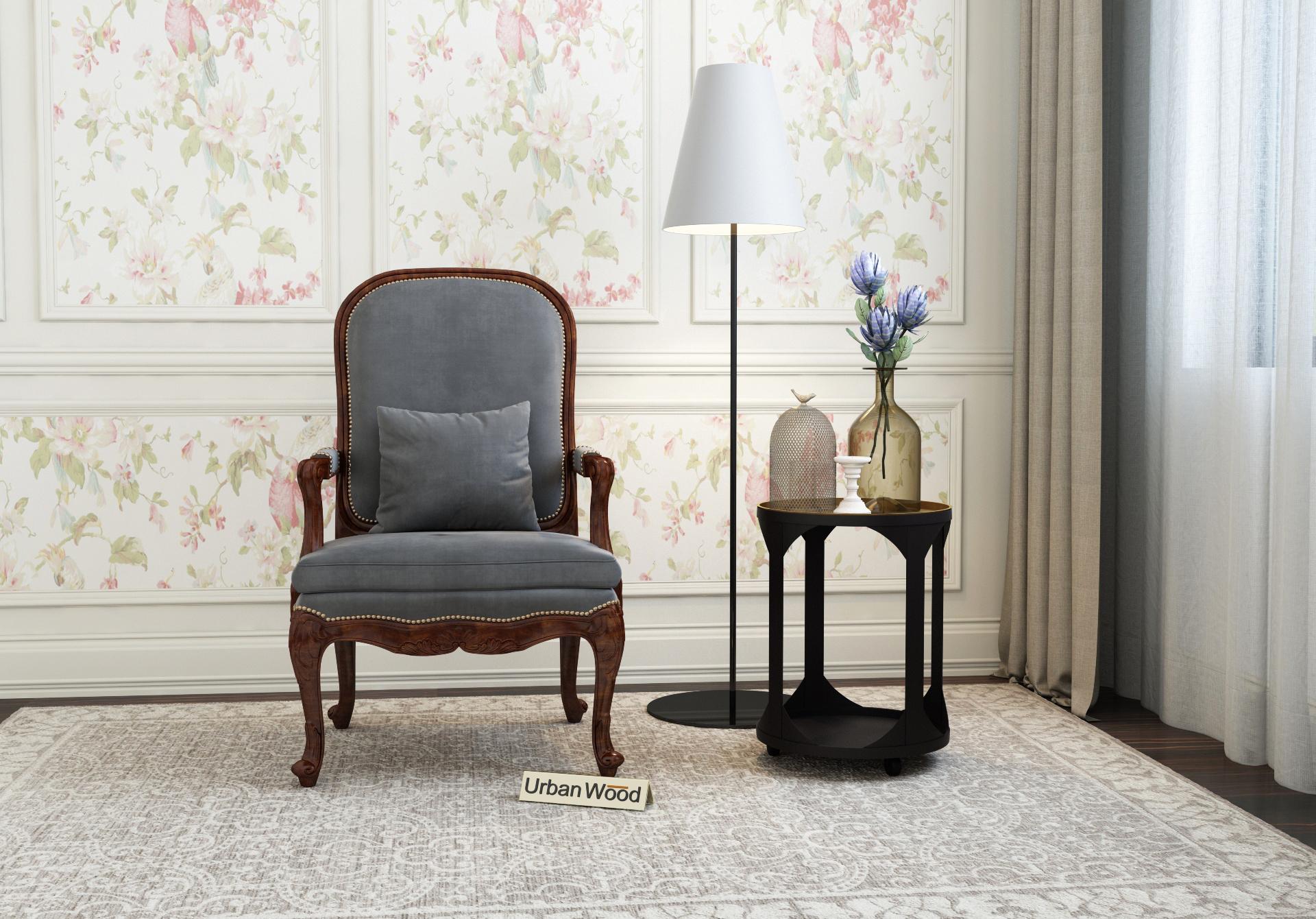 Avenue  Arm Chair  <small>( Velvet, Stone Grey )</small>
